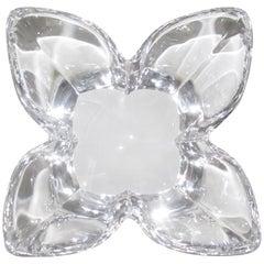 Scandinavian Modern Crystal Lotus Bowl by Designer Lars Hellsten