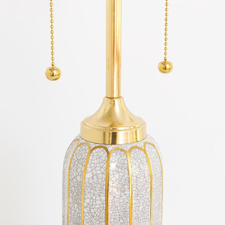 20th Century Scandinavian Modern Dahl-Jensen, Danish Art Deco Porcelain Lamps For Sale