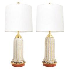 Scandinavian Modern Dahl-Jensen, Danish Art Deco Porcelain Lamps