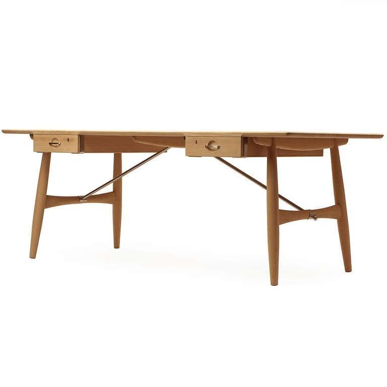 Scandinavian Modern Danish the 'Architect's Desk by Hans J. Wegner for PP Mobler In New Condition For Sale In Sagaponack, NY