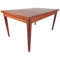 Scandinavian Modern Danish Draw-Leaf Table by Skovby