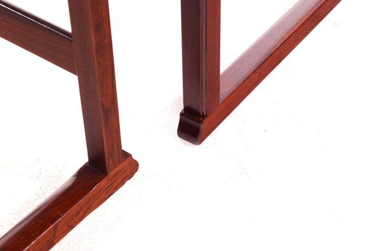 Scandinavian Modern Danish Nesting Tables in Rosewood For Sale 6