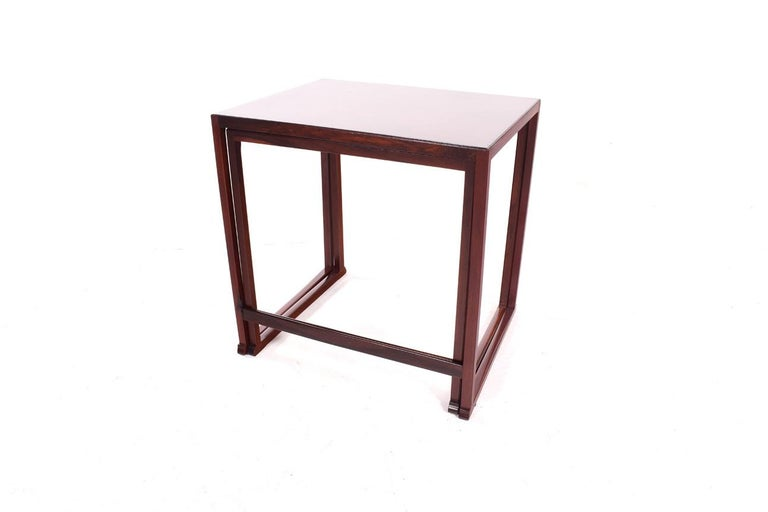 Scandinavian Modern Danish Nesting Tables in Rosewood For Sale 8