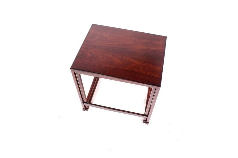 Scandinavian Modern Danish Nesting Tables in Rosewood For Sale 9
