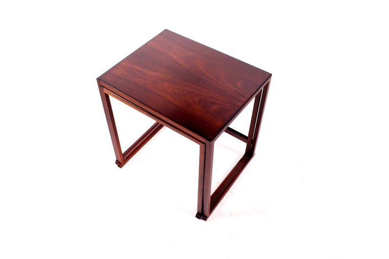 Scandinavian Modern Danish Nesting Tables in Rosewood In Good Condition For Sale In Lisboa, Lisboa