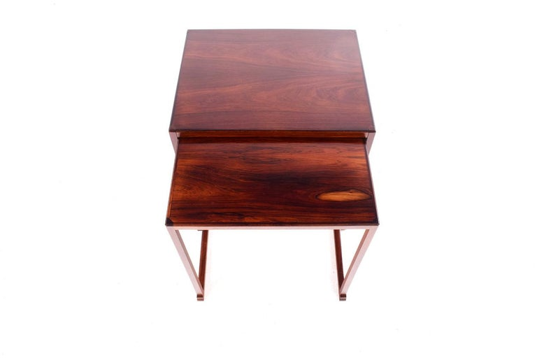 Scandinavian Modern Danish Nesting Tables in Rosewood For Sale 1