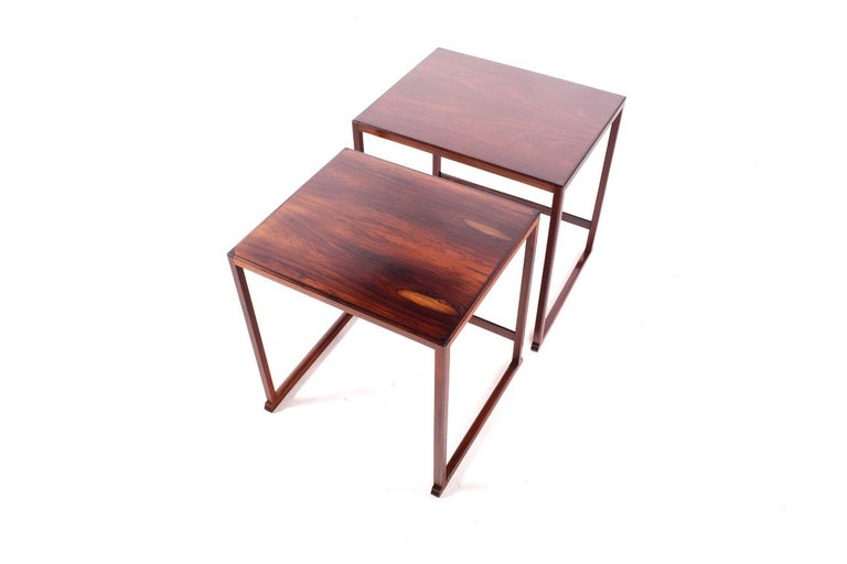 Scandinavian Modern Danish Nesting Tables in Rosewood For Sale 2