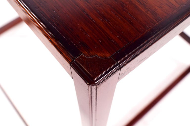 Scandinavian Modern Danish Nesting Tables in Rosewood For Sale 3