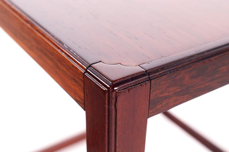 Scandinavian Modern Danish Nesting Tables in Rosewood For Sale 4