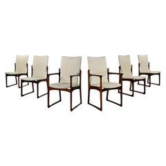 Scandinavian Modern Danish Rosewood Dining Chairs by Art Furn Set of 6