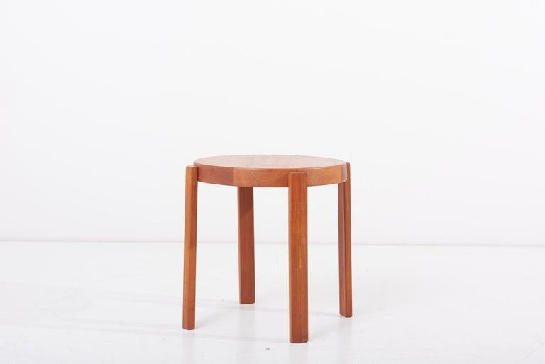 Mid-20th Century Scandinavian Modern Danish Teak Side Table by Mobelfabrikken Toften For Sale
