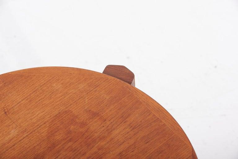 Scandinavian Modern Danish Teak Side Table by Mobelfabrikken Toften For Sale 2