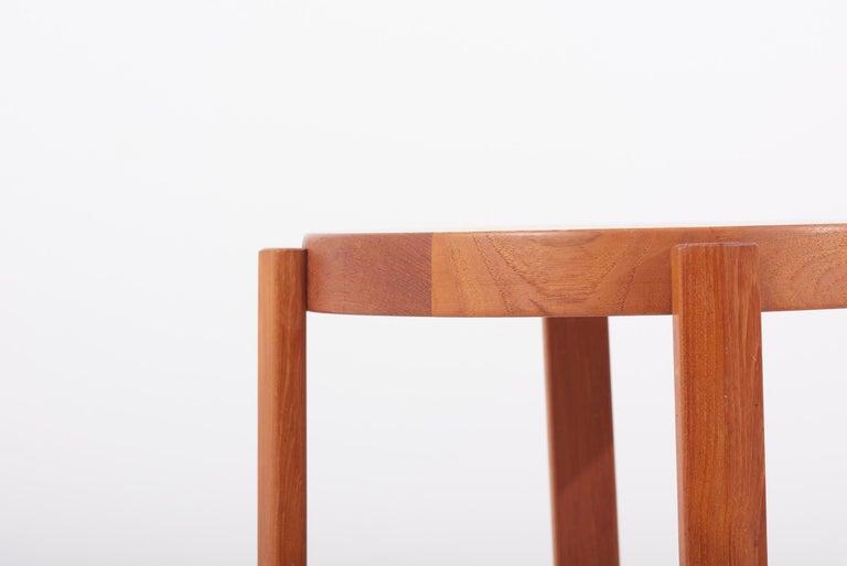 Scandinavian Modern Danish Teak Side Table by Mobelfabrikken Toften For Sale 3