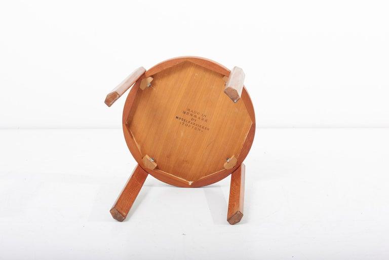 Scandinavian Modern Danish Teak Side Table by Mobelfabrikken Toften For Sale 4