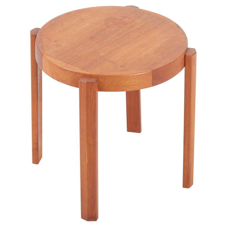 Scandinavian Modern Danish Teak Side Table by Mobelfabrikken Toften For Sale