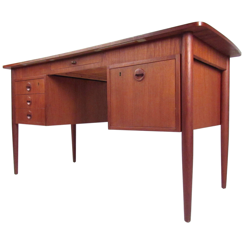 Scandinavian Modern Danish Teak Writing Desk