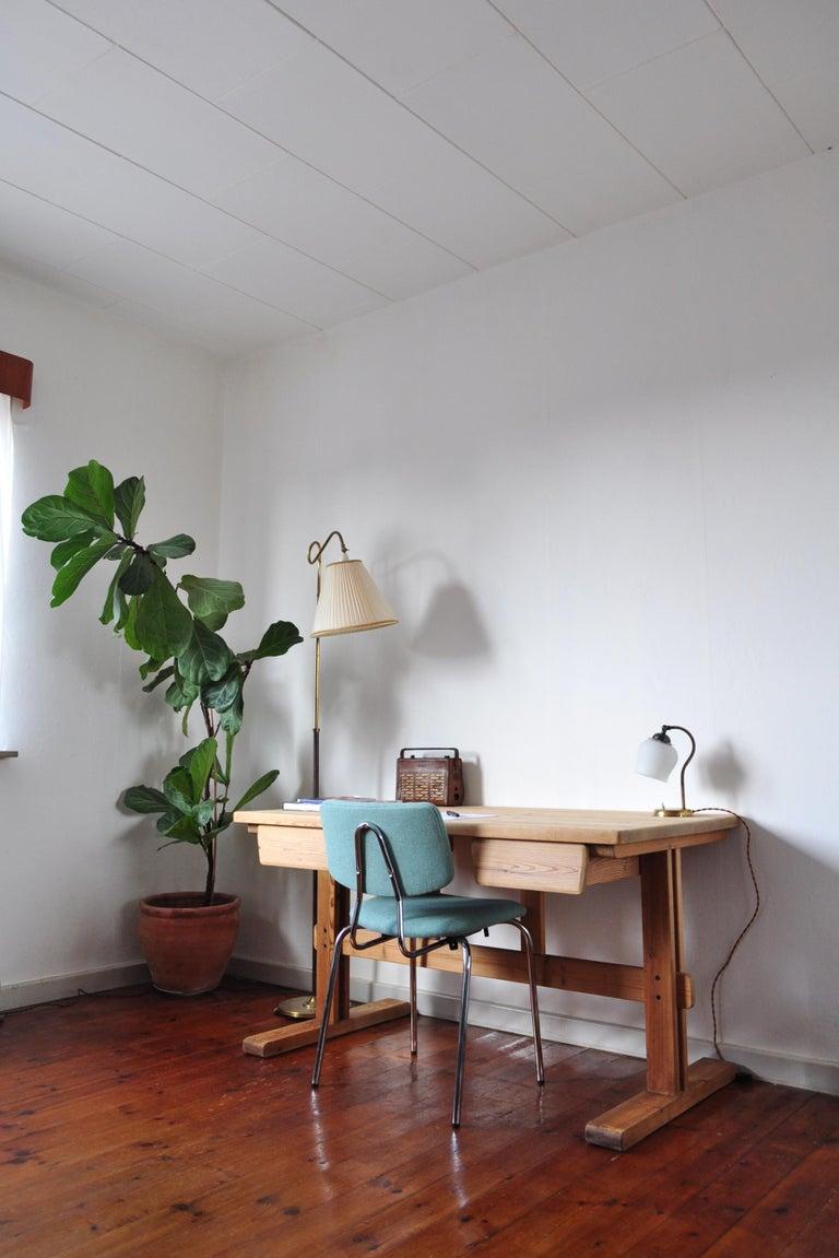 Scandinavian Modern Desk in Solid Pine, 1970s For Sale 11