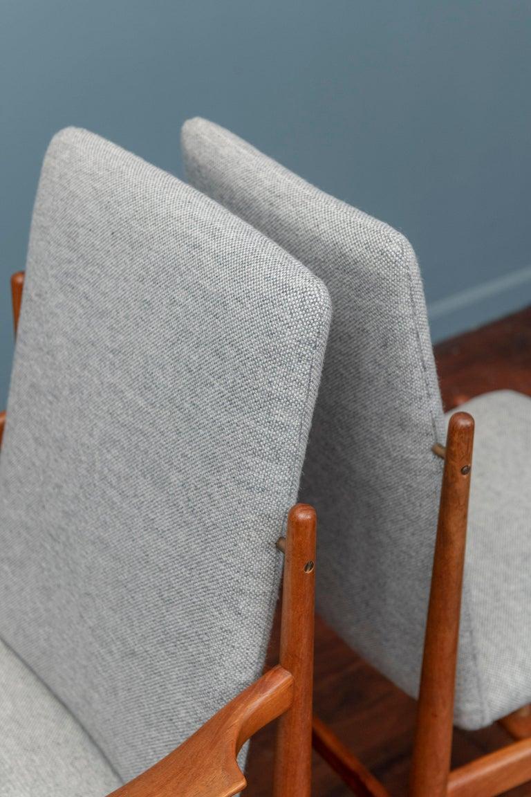 Teak Scandinavian Modern Dining Chairs For Sale