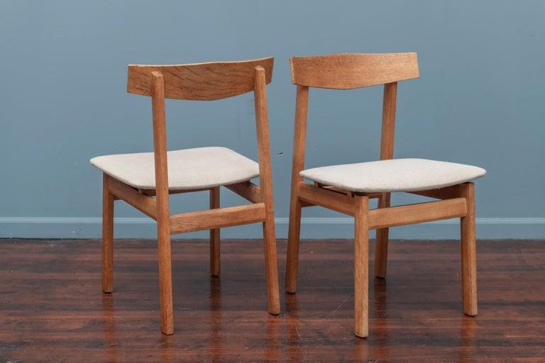 Oak Scandinavian Modern Dining Chairs For Sale