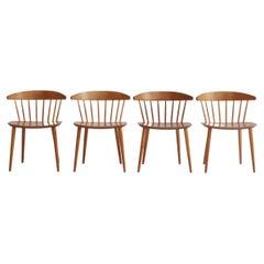 "Scandinavian Modern Dining Chairs ""J104"" by Jørgen Bækmark for FDB-Møbler, 1970s"