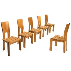 Scandinavian Modern Dining Chairs, Set of Six