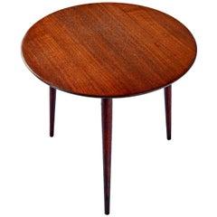 Scandinavian Modern Early Danish Solid Teak 3-Leg End Table