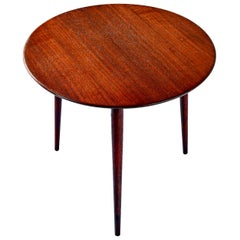 Scandinavian Modern Early Danish Solid Teak 3-Leg End Table
