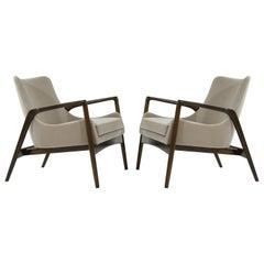 Scandinavian Modern Easy Lounge Chairs by Ib Kofod-Larsen, 1950s