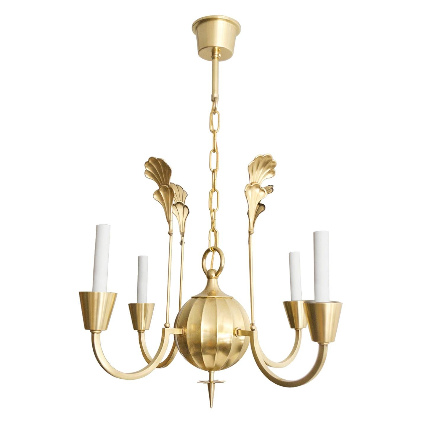 Scandinavian Modern Elis Bergh for C.G. Hallberg Chandelier Four Arms