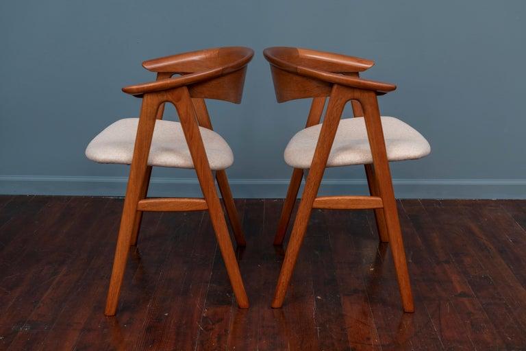 Danish Scandinavian Modern Erik Kirkegaard Teak Dining Chairs, Model 57 For Sale