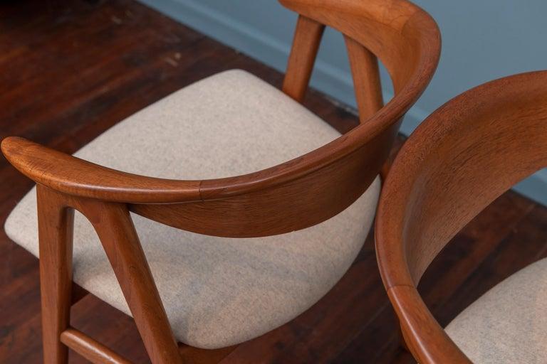 Scandinavian Modern Erik Kirkegaard Teak Dining Chairs, Model 57 In Good Condition For Sale In San Francisco, CA