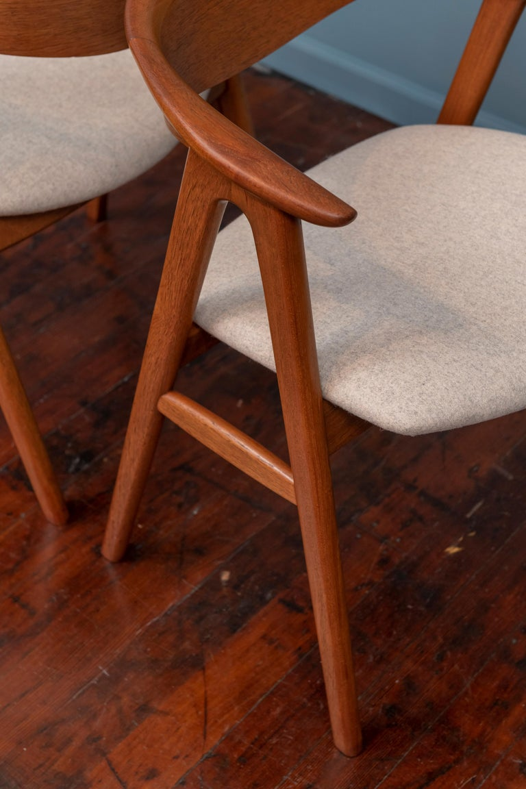 Mid-20th Century Scandinavian Modern Erik Kirkegaard Teak Dining Chairs, Model 57 For Sale