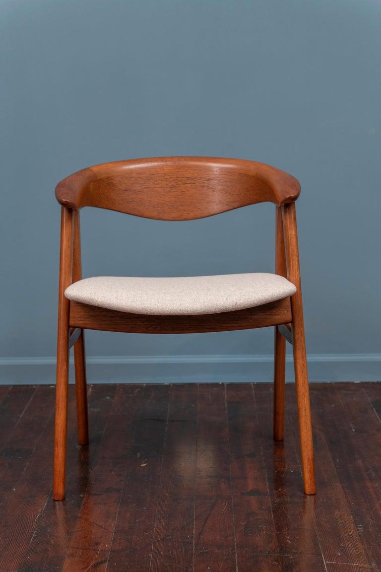 Scandinavian Modern Erik Kirkegaard Teak Dining Chairs, Model 57 For Sale 1