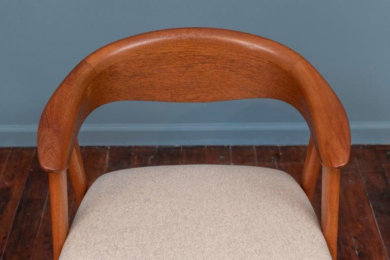 Scandinavian Modern Erik Kirkegaard Teak Dining Chairs, Model 57 For Sale 2