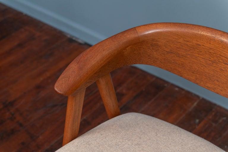 Scandinavian Modern Erik Kirkegaard Teak Dining Chairs, Model 57 For Sale 3