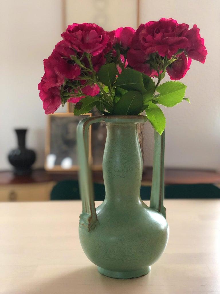 Scandinavian Modern Ewald Dahlskog Ceramic Vase Produced by Bobergs Fajansfabrik In Good Condition For Sale In Stockholm, SE