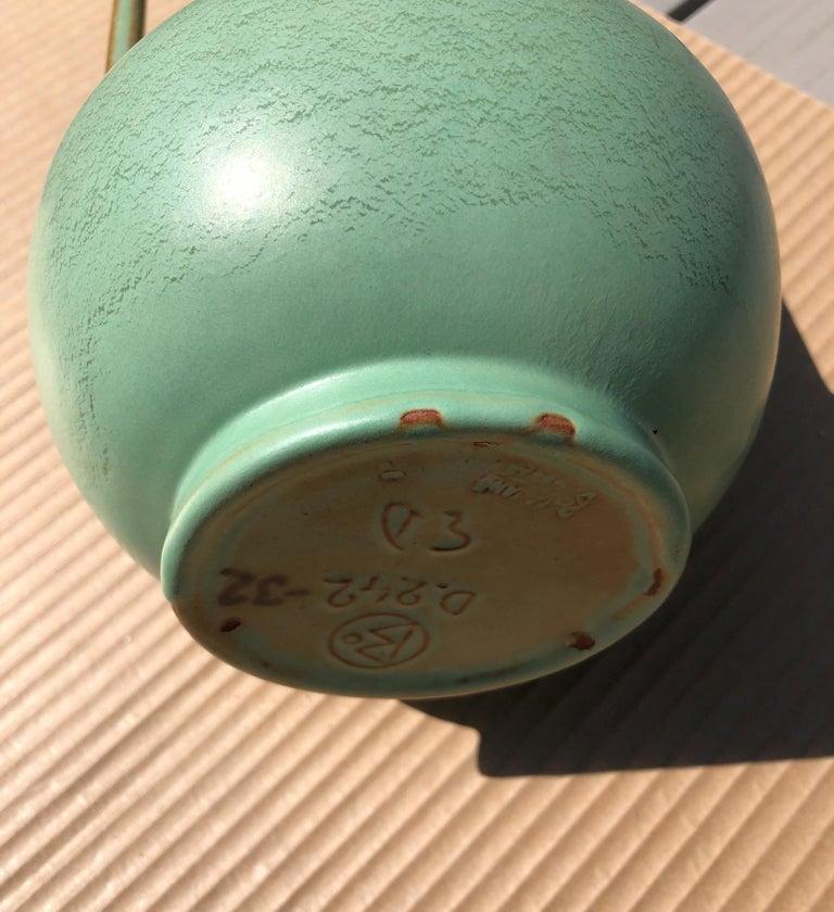 Earthenware Scandinavian Modern Ewald Dahlskog Ceramic Vase Produced by Bobergs Fajansfabrik For Sale