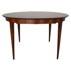 Scandinavian Modern Extendable Oval/Round Dinning Table, 1960, Denmark