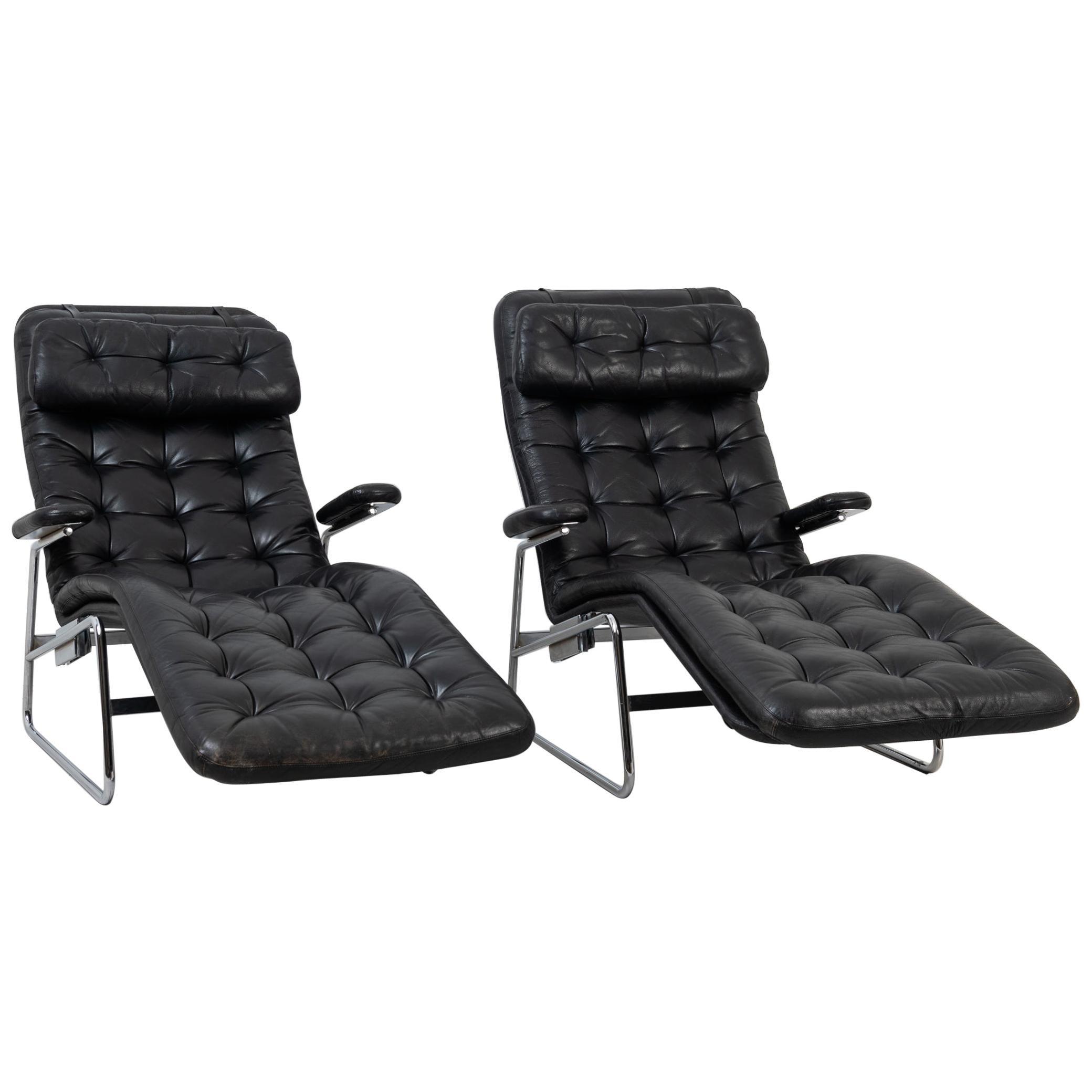 Scandinavian Modern Fenix Lounge Chairs for DUX
