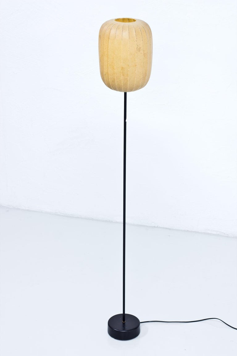 Rare floor lamp designed by Hans Bergström manufactured by Ateljé Lyktan in Sweden