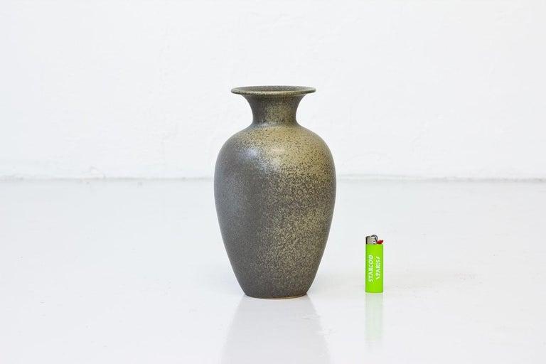 Swedish Scandinavian Modern Floor Vase in Stoneware, Sweden, 1960s For Sale
