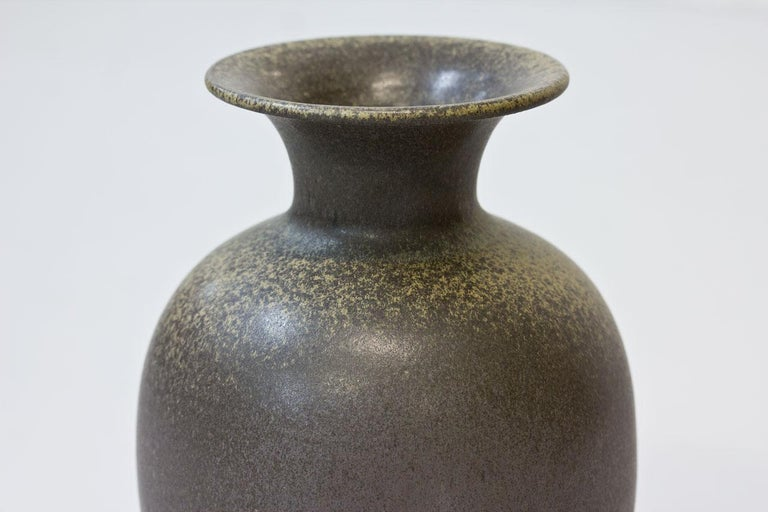 20th Century Scandinavian Modern Floor Vase in Stoneware, Sweden, 1960s For Sale