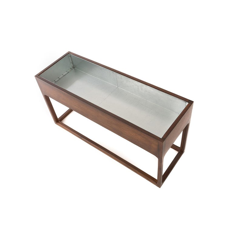 Scandinavian Modern Frame Based Planter In Excellent Condition For Sale In Minneapolis, MN