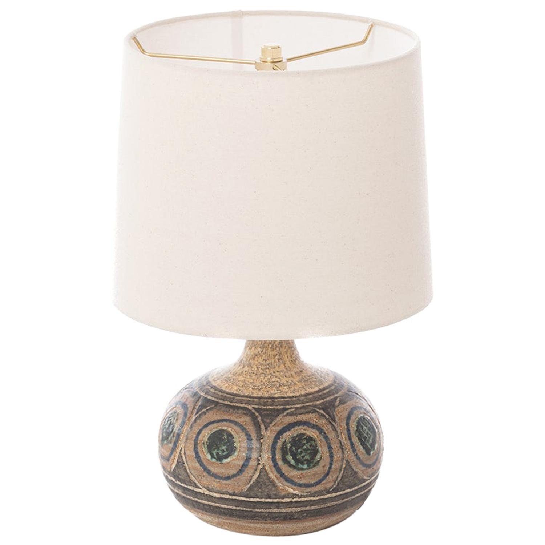 Scandinavian Modern Glazed Stoneware Table Lamp