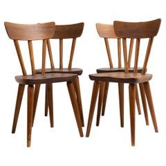 Scandinavian Modern Göran Malmvall Svensk Fur Pine Chairs