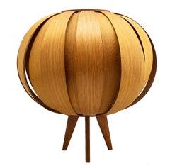 Scandinavian Modern Hans-Agne Jakobsson Pine Bentwood Table Lamp for AB Ellysett