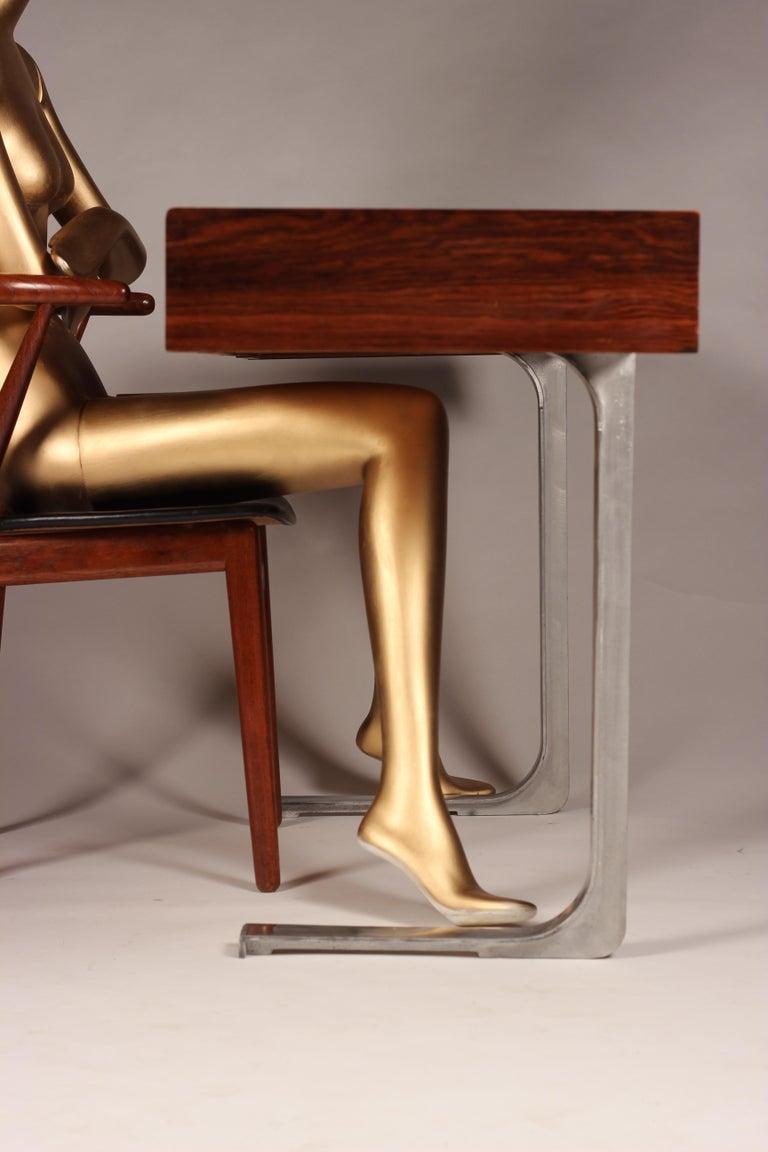 Scandinavian Modern Henning Kjærnulf Teak and leather Dinning Chair Model 255 For Sale 10
