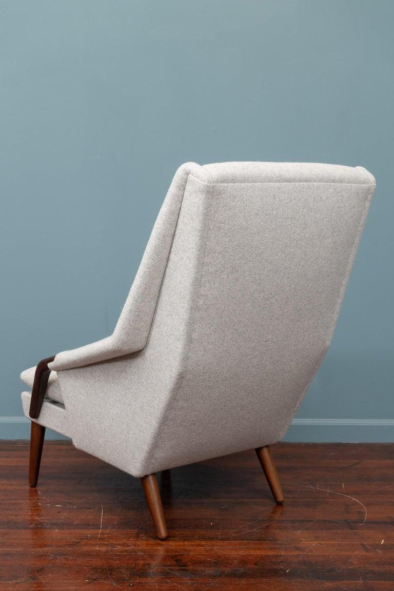 Mid-20th Century Scandinavian Modern High Back Lounge Chair For Sale