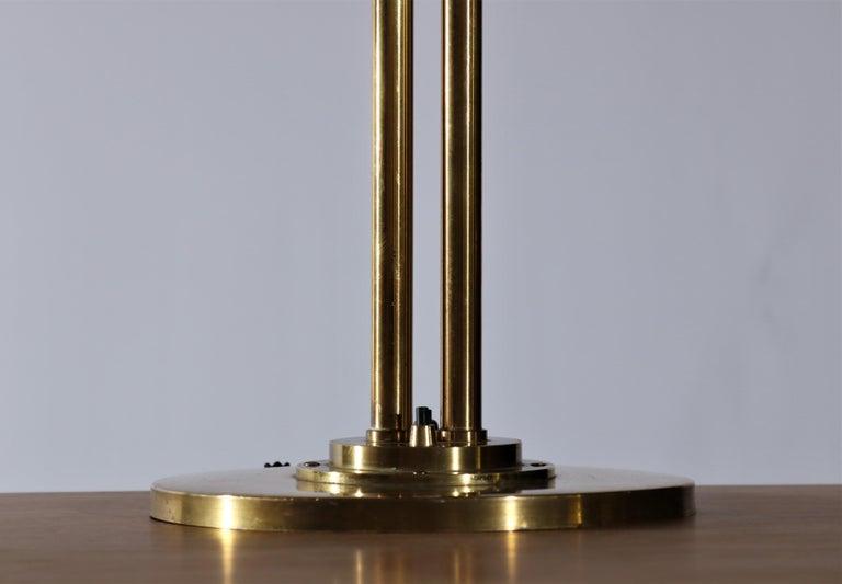 Scandinavian Modern Huge Desk Lamp in Brass by Vilhelm Lauritzen in the 1940s For Sale 6