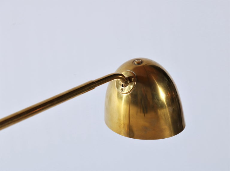Danish Scandinavian Modern Huge Desk Lamp in Brass by Vilhelm Lauritzen in the 1940s For Sale